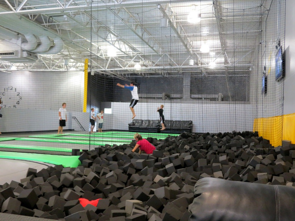 foam pits at get air trampoline park