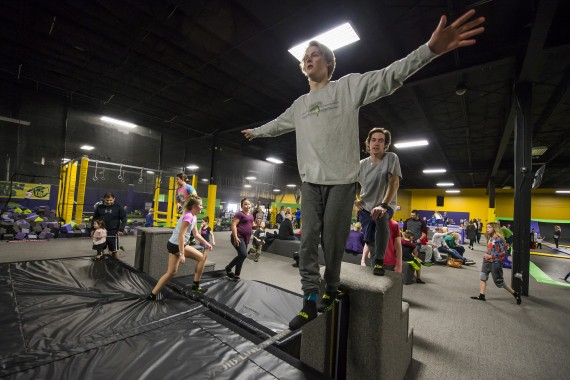 practice slackline skills at get air