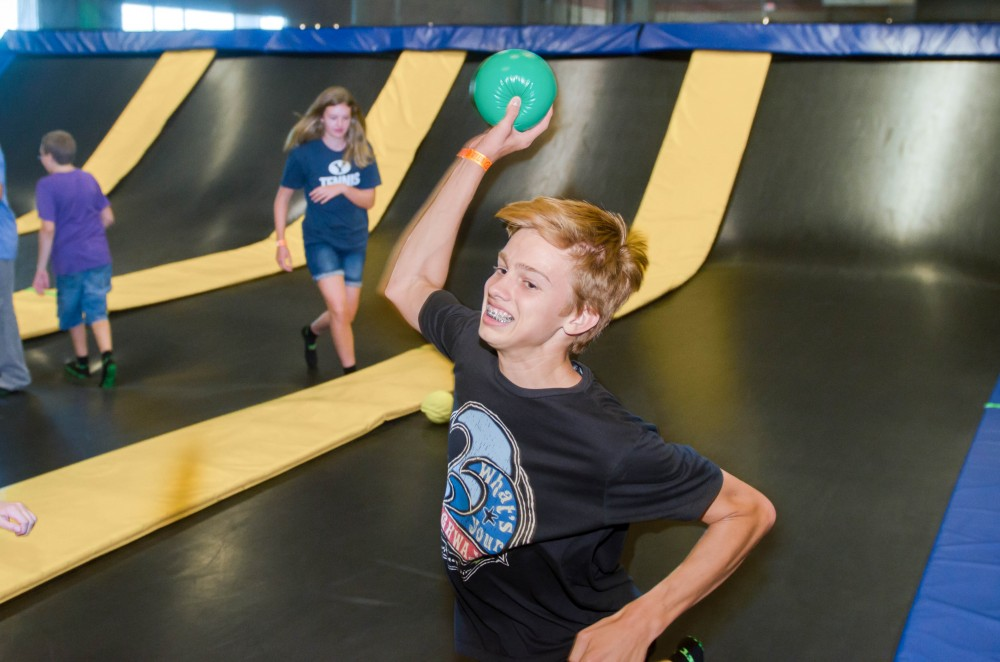 dodgeball at get air trampoline park