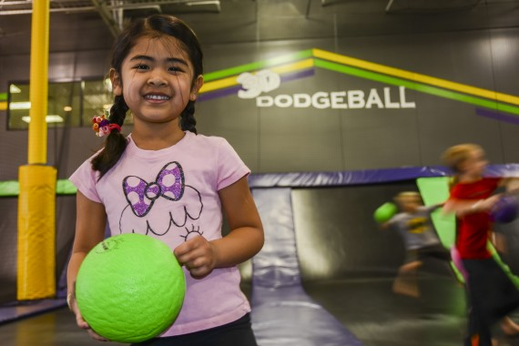 girl with dodge ball