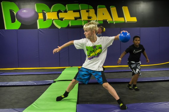 dodgeball at kids birthday