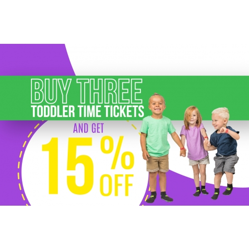 Playdate Deal – Get 15% off 3 Toddler Time Tickets