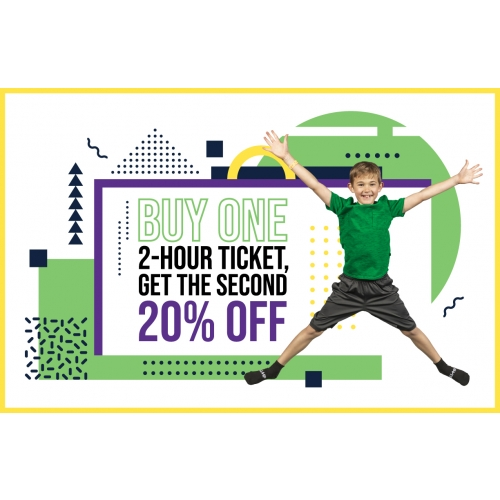 Buy One 2-Hr Jump Ticket, Get The Second 20% Off