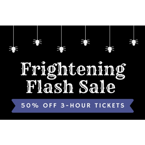 Frightening Flash Sale - Get 50% off 3-hour jump tickets