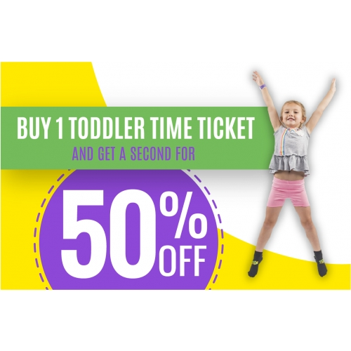 Buy 1 Toddler Time Ticket, Get a Second for 50% Off