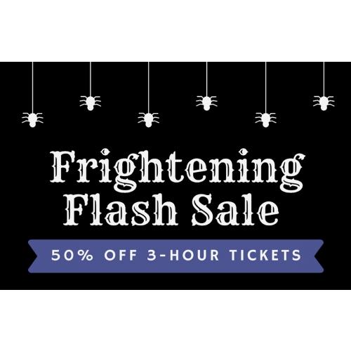 Frightening Flash Sale - Get 50% off 3-hour jump tickets
