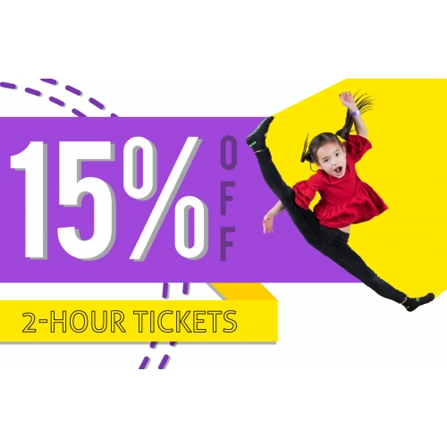15% Off Your Next 2-Hour Jump Ticket