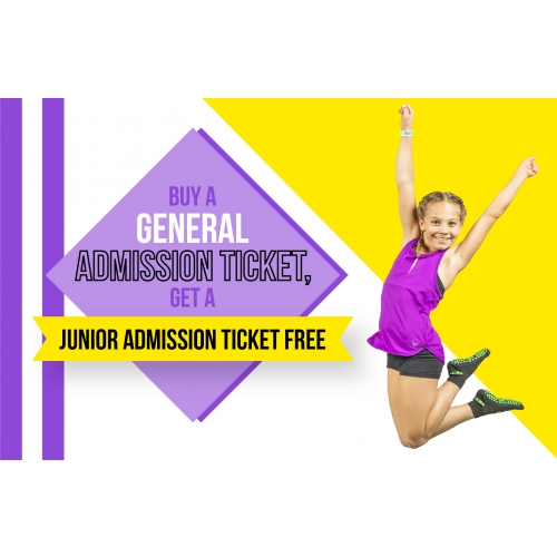 Buddy Bounce Deal - Buy a General Admission ticket, get a Junior Admission ticket free