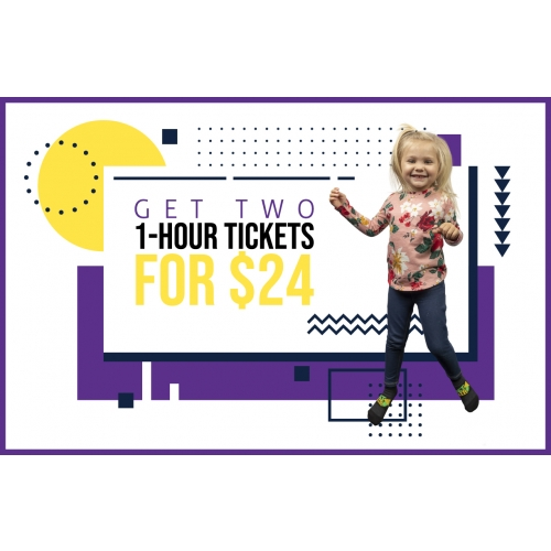 Get Two 1-Hr General Admission Jump Tickets for $24