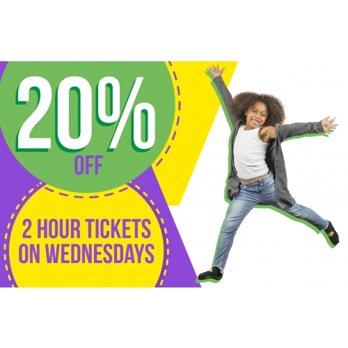 Hump Day Jump Day – 20% Off Jump Tickets On Wednesdays