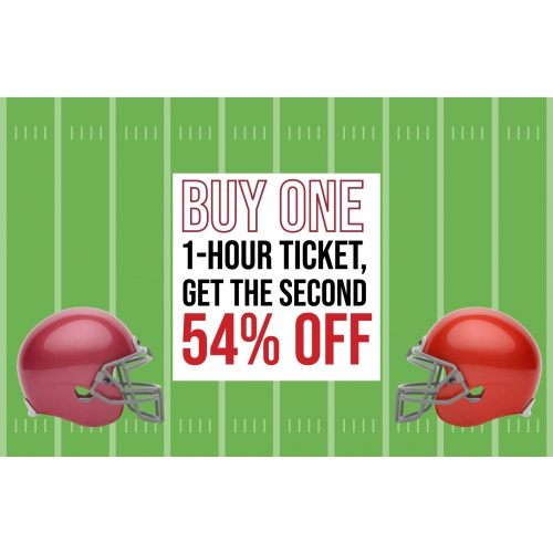 Super Deal For The Big Game - Buy One 1-Hr Jump Ticket, Get The Second 54% Off