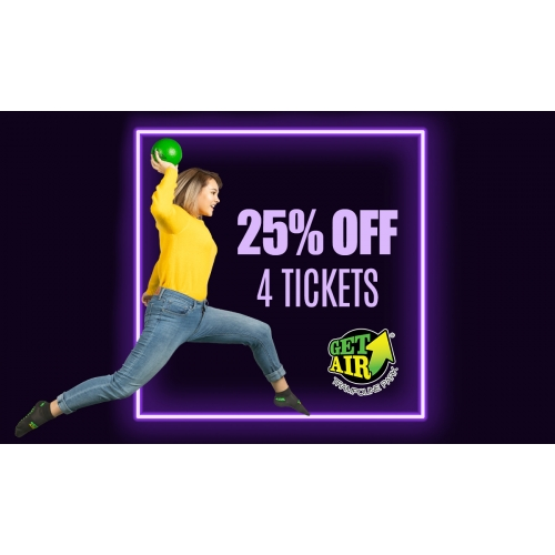 25% off 4 General Admission Jump Tickets