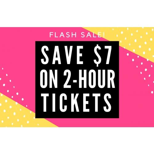 FLASH SALE - GET $7 OFF 2 HOUR GENERAL ADMISSION JUMP PASSES