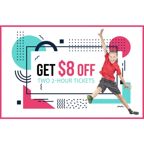 Get $8 Off Two 2-Hr Jump Tickets