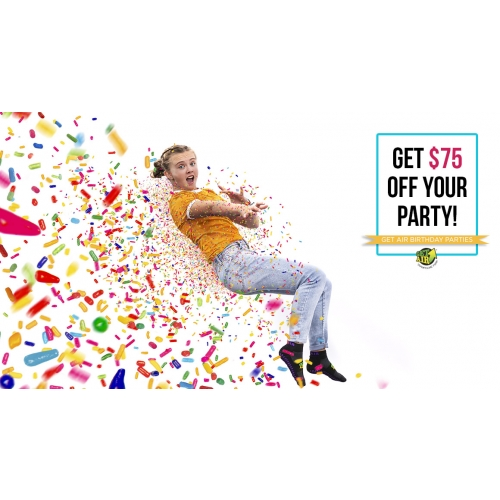 Get $75 Off Any Party Package
