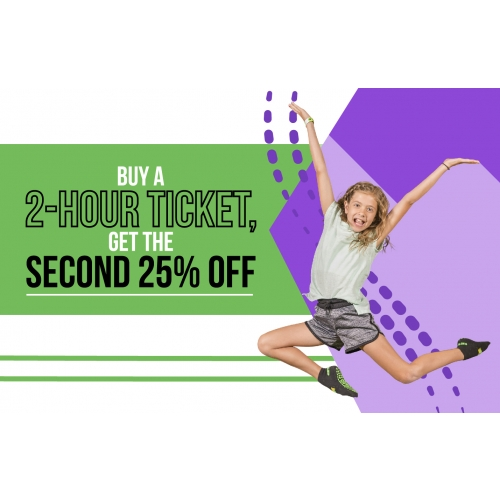 Double Down Deal - Buy a 2-Hour ticket, get the second 25% off