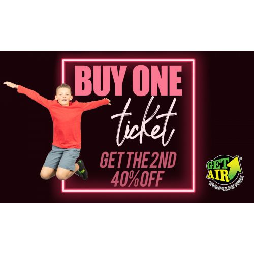 Buy 1 ticket, get the 2nd one 40% off