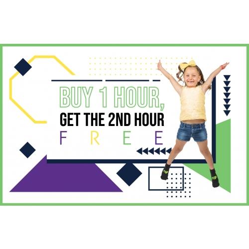Mardi Gras Deal - Buy 1-Hr Jump Ticket, Get 2nd Hour Free