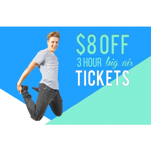 GET $8 OFF 3-HOUR GENERAL ADMISSION TICKETS