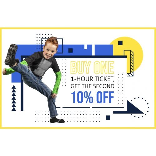 Buy One 1-Hr Jump Ticket, Get The Second 10% Off