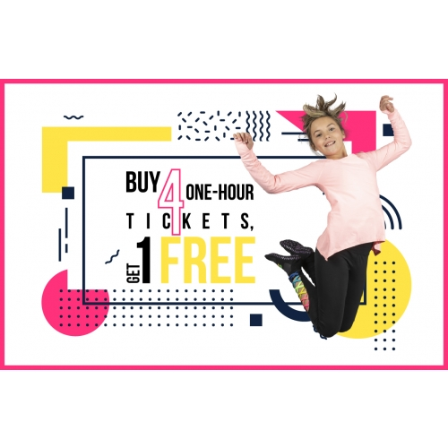 Buy Four 1-Hr Jump Tickets, Get 1 Free