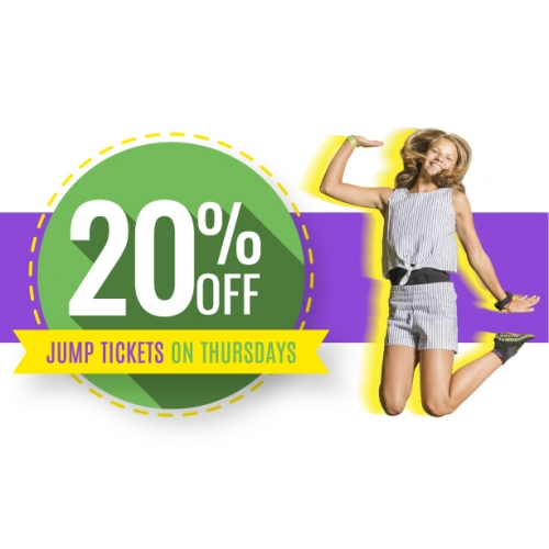 20% off Jump Tickets on Thursdays