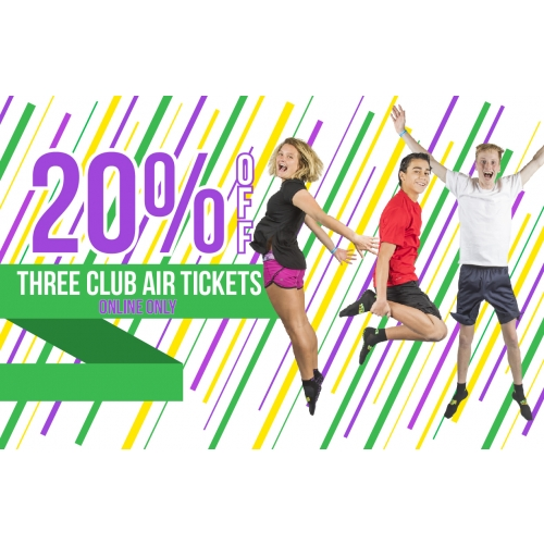 Squad Goals – 20% off Three Club Air Tickets