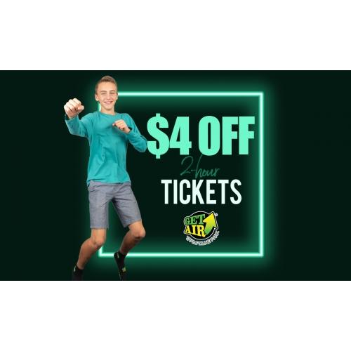 Get $4 off 2-hour jump tickets