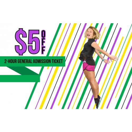 Happy Hoppers Deal -  $5 Off Two 2-hour General Admission Jump Tickets