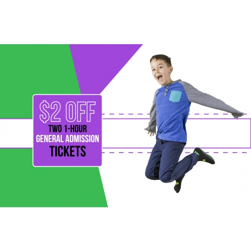 Joyful Jumpers Deal - $2 Off Two 1-hour General Admission Jump Tickets
