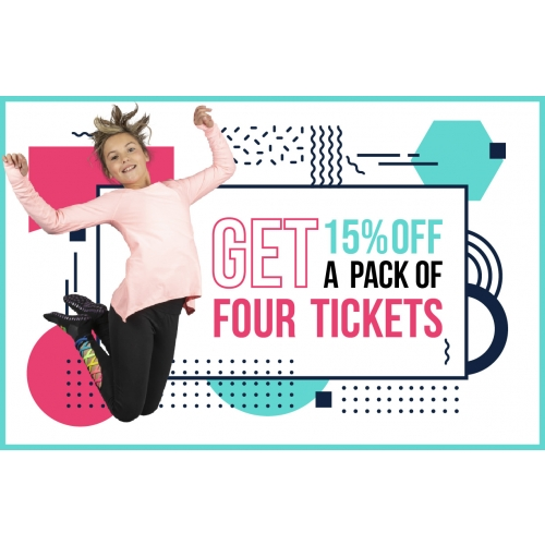 Get 15% Off A Pack Of Four Jump Tickets
