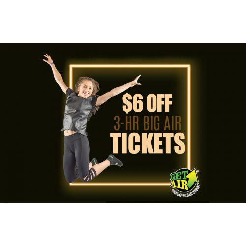 Get $6 off 3-hour jump tickets