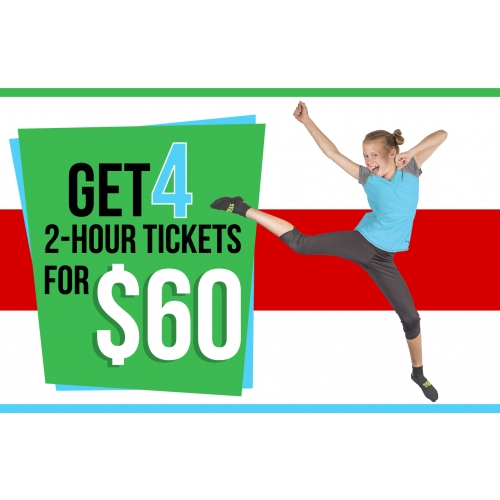 Holly Jolly Family Fun - Four 2-Hour Jump Tickets for $60