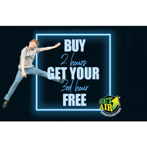 Buy 2 hours of jump time, get the 3rd hour free