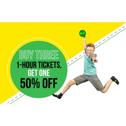 Save More with Four - Buy three 1-hour tickets, get one 50% off