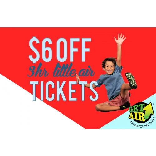 GET $6 OFF 3-HOUR JUNIOR ADMISSION TICKETS