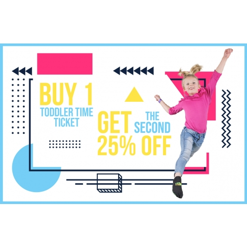 Buy 1 Toddler Time Jump Ticket, Get The Second 25% Off