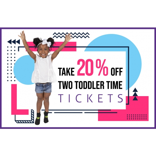 Take 20% Off Two Toddler Time Jump Tickets