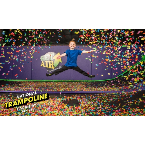 50% OFF ANY TICKET FOR NATIONAL TRAMPOLINE PARK DAY