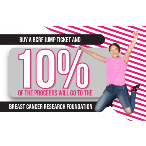 10% Donation Breast Cancer Research Foundation Jump Tickets