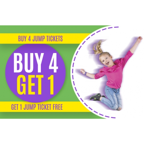 Buy 4 Jump Tickets, Get 1 Free