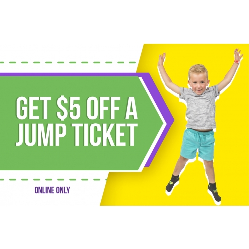 $5 Off 2 Hr Jump Tickets