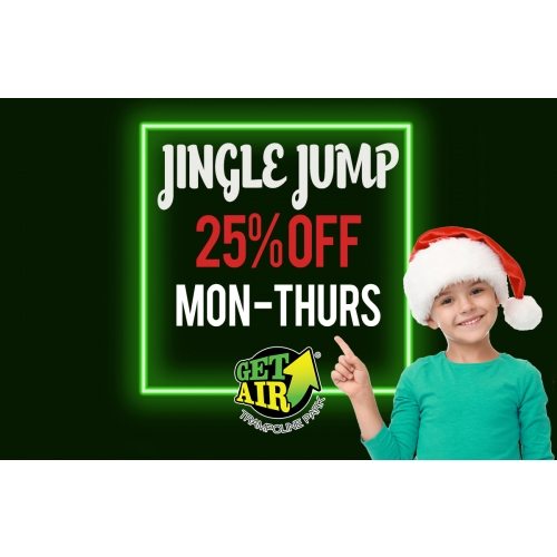 Weekday Jingle Jump Deal – Get 25% off tickets valid Monday through Thursday