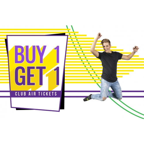 Squad Nights - Buy 1 Club Air Ticket Get A 2nd 50% Off