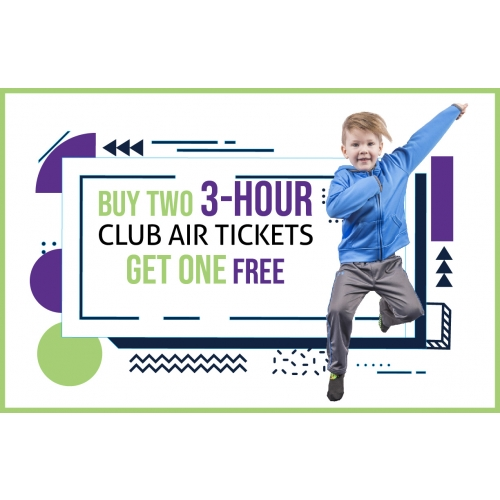 Buy Two 3-H Club Air Jump Tickets, Get One Free