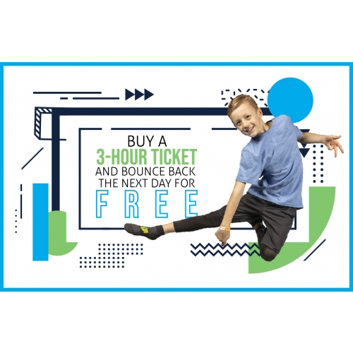 Buy A 3-Hr Jump Ticket And Bounce Back For 1-Hr The Next Day Free
