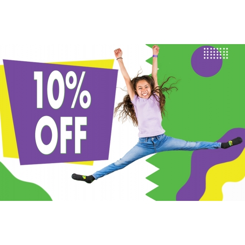 10% Off Your Next 1-Hour Jump Ticket