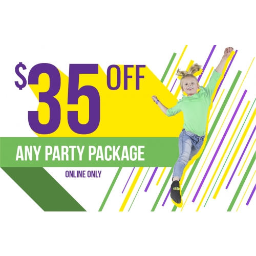 $35 Off Any Party Package