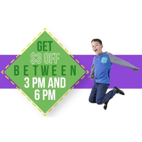 After School Savings - Get $3 off any ticket between 3 PM and 6 PM (Monday - Friday Only)