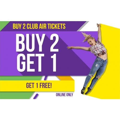 Buy 2 Club Air Tickets, Get 1 Free